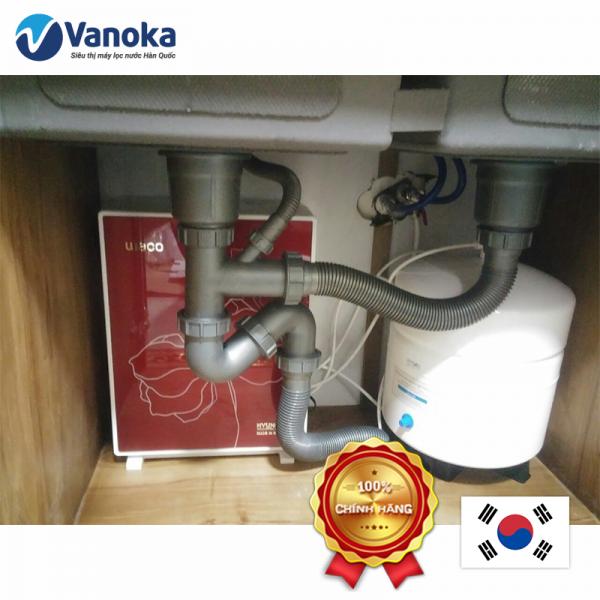 Lắp đặt máy lọc nước Hyundai HW-UP100M5 dưới chậu rửa