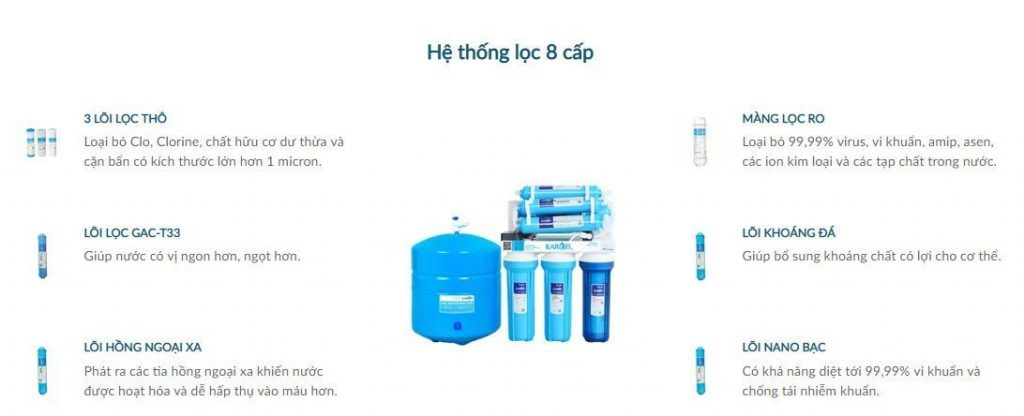 máy lọc nước Karofi 8 lõi